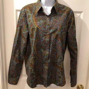 SZ Large Paisley button-up blouse by Ralph Lauren